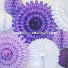 cheap paper fans party supplier hanging ceiling paper fans for wedding stages