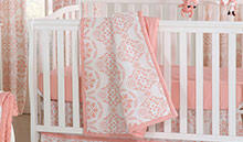 coral baby crib bedding coral nursery décor