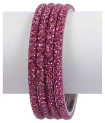 much more ethnic traditional design pink color crystal stone