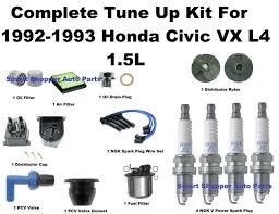 2004 honda civic fuel filter tune up kit 1992 1995 honda civic vx spark wire set air