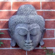 Garden Wall Plaque by Stone Thai Buddha Head Wall Plaque Garden Art S U0026s Shop