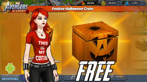 marvel avengers academy free festive halloween crate opening