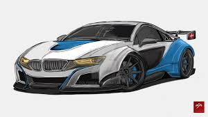 bmw concept i8 drawing bmw i8 gt3 concept by golferpat on deviantart