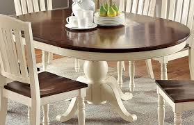 Dining Table White Legs Wooden Top Cottage Style Oval Dining Table With Robust Wooden Construction