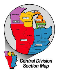 Illinois On The Map by Psia Aasi C Central Division Section Map