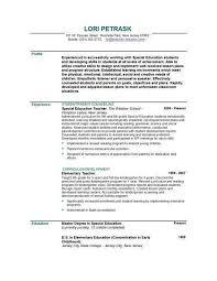 Special Education Teacher Resume Objective Resume Sample With Objective Sample Objectives Resumes Sample