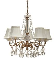 Gold Chandelier Light Gold Arm Crystals Chandelier 5 Silk Shades L Shade Pro