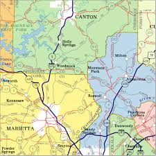 Georgia Counties Map Georgia Highway City And County Wall Maps Aero Surveys Of Georgia