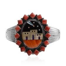 santa fe style house santa fe style spiny oyster red shell multi gemstone sterling
