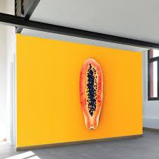 minimalist papaya wall mural wallsneedlove wall murals from wallsneedlove lifestyle