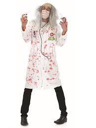 zombie doctor costume bloody surgeon mens halloween fancy
