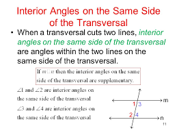 Same Side Interior Angles Definition Geometry Same Side Interior Angles