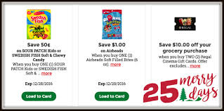 kroger 25 merry days high value coupons for airheads sour patch