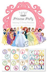 bingham diaries disney princess party printables