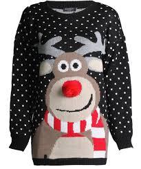 3d sweater forever womens unisex rudolph print 3d nose pom pom