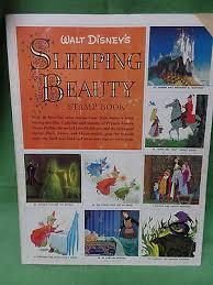 vintage walt disney sleeping beauty stamp coloring book