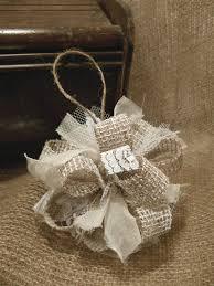 burlap ornament ideas burlap