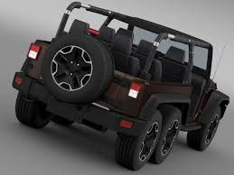 jeep models 2005 jeep wrangler rubicon 6x6 2016 3d model cgtrader