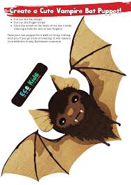 create a cute vampire bat puppet eco kids planet