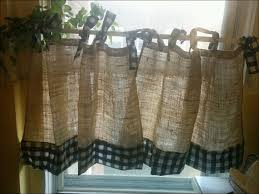 burlap kitchen curtains large size of kitchen curtains long
