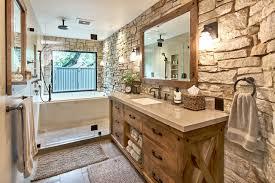 Rustic Modern Bathroom Modern Master Retreat With World Flair Rustic Bathroom