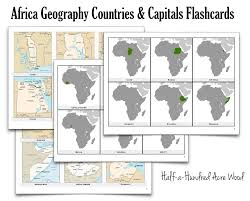 Africa Map Countries And Capitals by Africa Countries Capitals Flashcards Half A Hundred Acre Wood