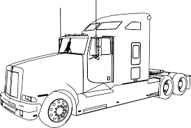 coloring pages horse trailer coloring pages horse trailer copy best of kenworth t600 long truck