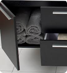 fresca opulento black modern double sink bathroom vanity w