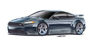 kenny brown mustang 20 x 40 print 2015 kenny brown ford mustang gt3 concept