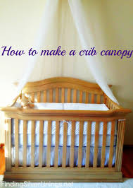 Hanging Canopy by How To Make A Crib Canopy Finding Silver Linings