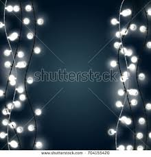 christmas lights net style set vertical white garland style christmas stock vector 704155420