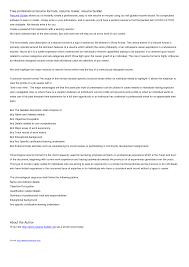Oil Field Resume Professional Resume Cover Letter Sample Hospitality Resume Example