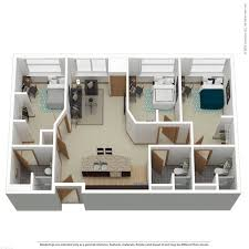 3 bedroom 3 bath floor plans apartment floor plans near marquette the marq