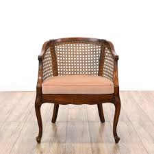 Pair Of Chairs For Living Room by Pair Of Cherry Curved Barrel Cane Back Chairs Cherry Finish