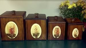 wooden kitchen canister sets gorgeous vintage dovetail wooden canister set four kitchen