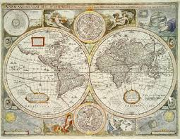 World Maps by Historic World Map 1676 A New U0026 Accurate Map Of The World