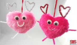 valentine craft with pom poms s u0026s blog