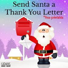 santa claus letters writing activities thank you letters to santa