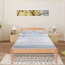 Single Wood Bed Frame Single Bed Real Pine 3ft Single Wooden Bed Frame Modern Design Top