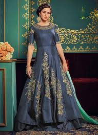anarkali wedding dress silk anarkali dresses shop uae blue layer wedding