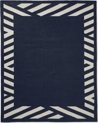 6x9 Outdoor Rug Spectacular Deal On Striped Border Indoor Outdoor Rug 6x9 Navy