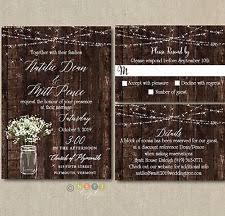 rustic wedding invites rustic wedding invitations ebay