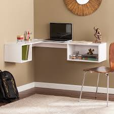Corner White Desks Fynn Wall Mount Corner Desk White Desks Home Office Shop