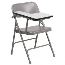 chairs mfo premium steel folding chair with right handed tablet
