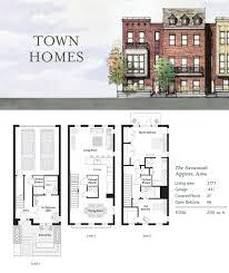 building designs stockton narrow row house with garage the savannah nashville townhouses germantown thandm