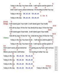 today is the day lyrics and chords faith and