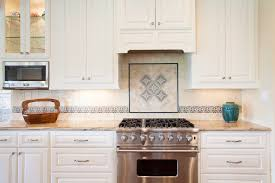 Mediterranean Tiles Kitchen - tile centerpiece ideas kitchen traditional with tiled backsplash