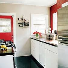 Red Kitchen With White Cabinets Ge Profile Kitchen With Red Walls White Cabinets And White