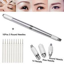 tattoo pen ebay 10pcs 3 round needles with microblading permanent 3d eyebrow manual