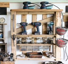 Wood Shelving Plans For Storage by From A Lowly Pallet To The Ultimate Tool Storage Shelf Hometalk